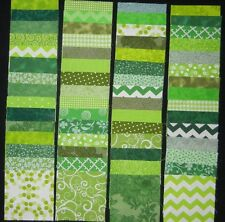 "40 green 4"" x 4"" fabric squares 2 squares from 20 different prints"