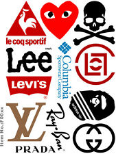 A5 Size Brand Logo Skateboard Luggage Laptop Bike Phone Vinyl Stickers S0531