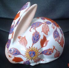 Very Sweet Chinese Pottery Porcelain Rabbit Figurine Ornament Circa 1928
