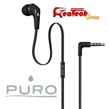 PURO Auricolare Mono In-Ear con Microfono Per HTC One M7 M8 M9 Jack 3.5mm NERO