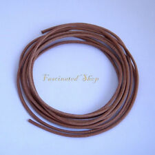 Leather Real Jewelry Cord 1.5mm 10 ft.Natural Round Cord Findings Supplies