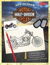 HOW TO DRAW HARLEY DAVIDSON MOTORCYCLES A Step-by-Step Guide BRAND NEW