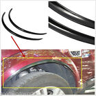 2 X Black Car Left&Right Wheel Eyebrow Protector Anti-Scratch Sticker Decoration