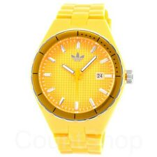 New Adidas Cambridge Orange Rubber band Date Women Dress Watch 44mm ADH2100 $75