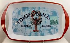 Tommy Bahama Melamine Serving Tray Handled Nautical Lobster White Red Blue New