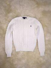New White Ralph Lauren Big Girls Boys Knit Sweater Basic Jacket Top Sz S