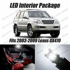 20pcs LED White Lights Interior License Package Kit For Lexus GX470  2003-2009