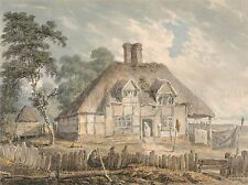 PAINTINGS COTTAGE SOUTHAMPTON OIL HOUSE TREE LARGE POSTER ART PRINT BB3205A
