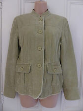 Boden size 12 beige corduroy jacket with frayed edges, pockets, long sleeves