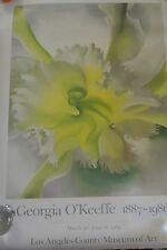 Vintage O'Keeffe Poster Los Angeles County Museum of Art 1989 Orchid