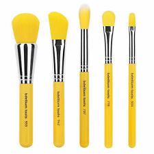 Bdellium Tools Makeup Cosmetic Beauty Brush Yellow Bambu Mineral 5pc Brush Set