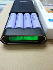 LCD Intelligent 4 Slot 18650 Battery Charger And Mobile Power Bank for Cellphone