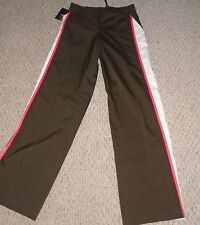 Ativa Women's Pants Brown w/White/Pink Stripe Size Small NEW NWT