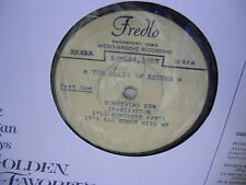 Dukes of Rhythm FREDLO Davenport Iowa ACETATE April 24 1957 Part One & Two