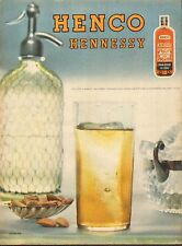 Publicité  Advertising  --  HENCO  HENNESSY