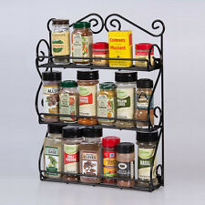 Wall-mounted 3 Tier Spice Rack Organizer for Vitamins Nail Polish Essential Oils