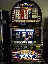 "IGT S2000 COINLESS SLOT MACHINE ""TRIPLE STARS 5 REEL"""