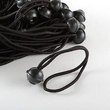 "100pc 9"" Ball Bungee Bungi Bungie Cord Tarp Tie Down Strap Canopy Black"