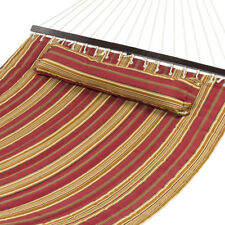 Details about  Hammock Quilted Fabric With Pillow Double Size Spreader Bar Heav