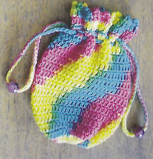Crochet Pattern ~ DIAGONAL STRIPED COIN PURSE Kids ~ Instructions