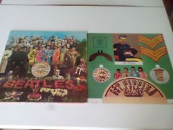 The Beatles SGT Pepper's Lonely Hearts Club Band Inserto Copertina apribile