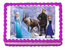 Frozen edible party cake topper decoration frosting sheet