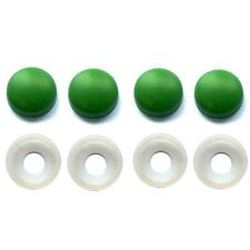 4 Green License Plate Frame Screw Caps & Bolt Covers Motorcycle or Car