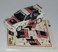 FORD ESCORT Gr A CRAK BRUYNELL RALLY  VAN LOOY 1993 DECALS SERIGRAFIA 1/43