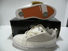 DUFFS JOSH BEAGLE PROFESSIONAL SKATEBOARD LOW MEN SHOES WHITE/GREY SIZE 6.5 NEW