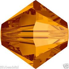 Swarovski 5328 Xilion Bicone Beads  6mm : Crystal Copper (20 beads)