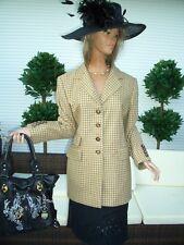 LUXUS LANDHAUS CASHMERE ESCADA Blazer Jacket beige KARO 44/46 Shabbykarriert
