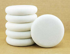 HOT STONE MASSAGE: Pack of 6 Round Marble Cold Stones 8 x 1.8 cm