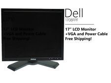 """Dell UltraSharp 1708FPF 17"""" LCD Monitor in Black with VGA and Power Cable"""