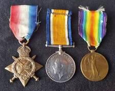WW1 1914-15 Star Trio 9th Royal Sussex Regiment