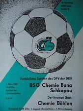 Programma 1986/87 BSG Chemie Buna Schkopau-CH. Böhlen