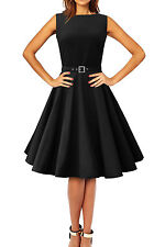 102 NEW FACTORY SECOND AUDREY BLACK ROCKABILLY PARTY PROM DRESS SIZE 10 BN