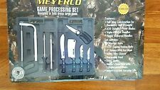 Meyerco Knives GAME PROCESSING SET Butcher,Boning,Skinner,Cleaver,Shears,Saw Etc