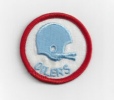 "1970's Houston Oilers patch old 2 bar helmet logo 2"" patch"