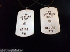Personalized Dog Tag Necklace Volleyball, Softball, Soccer, Referee, Coach