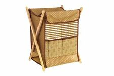 LARGE WICKER LAUNDRY BASKET WASHING HAMPER BIN CLOTHES STORAGE BOX LID FOLDING