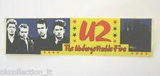 VECCHIO ADESIVO ORIGINALE / Old Original Sticker rock band U2 BONO VOX (cm 19x5)