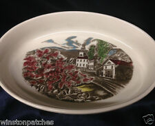 "JOHNSON BROTHERS PORTUGAL THE FRIENDLY VILLAGE OVAL BAKER 12"" VILLAGE SCENES"