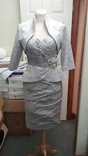Ian Stuart madre de la novia ISL405 gris cálido completo tamaño 10 Nuevo £ 1400