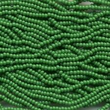 Czech Seed Beads 11/0 Opaque Green 31039 (6 strand hank) Glass