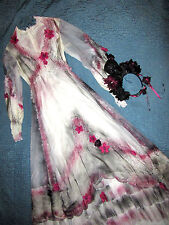 Victorian Day of the Dead corpse bride wedding dress COSTUME Mardi Gras Gothic