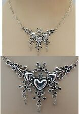 Silver Triple Heart Pendant Necklace Jewelry Handmade NEW Fashion Adjustable
