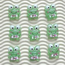 "IMPERFECTION - 30pc x 5/8"" Resin Frog Flatback Embellishment for Scrapbook SB286"
