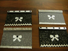 1 /12TH SCALE DOLLS HOUSE HANDMADE SET OF 2 WINDOW BLINDS NO WORKING.BLACK GREY
