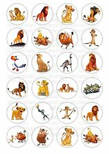 24 Lion King Wafer / Rice Paper Cupcake Topper Edible Fairy Cake Bun Toppers