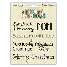 Dovecraft Tis the Season Sentiment Clear Stamps - Noel